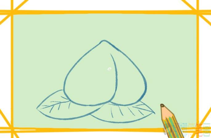夏日的水蜜桃简笔画要怎么画