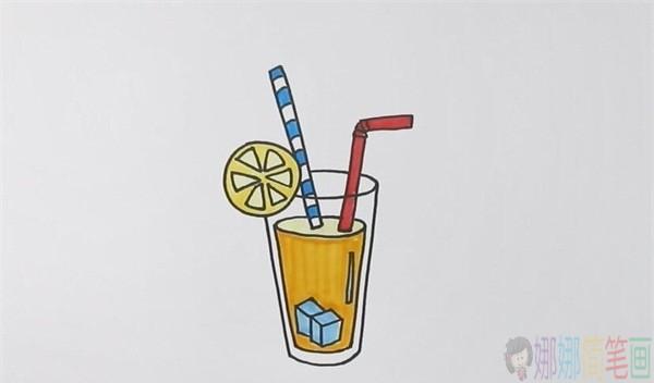 果汁简笔画