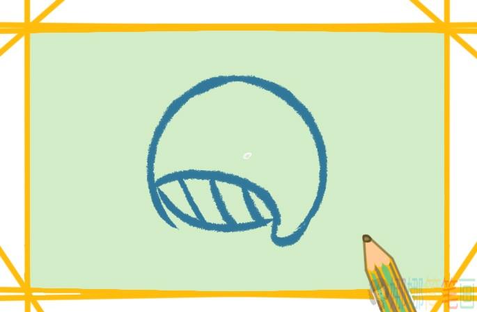 鲸鱼彩色简笔画步骤图教程