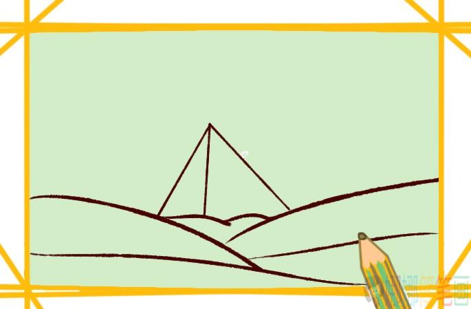 金字塔简笔画画法步骤图