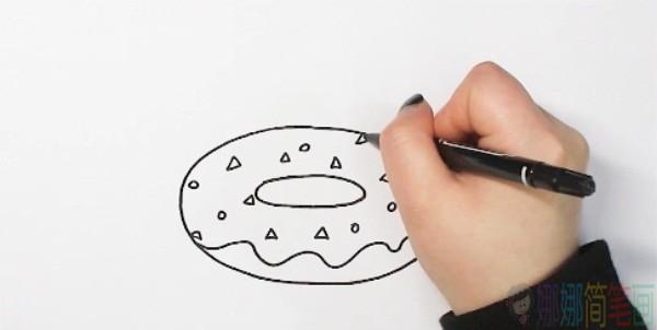 甜甜圈简笔画大全