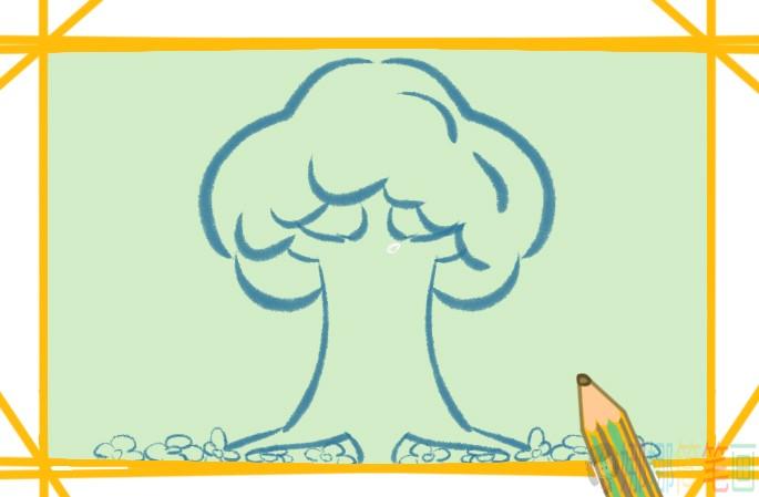 大树彩色简笔画图片