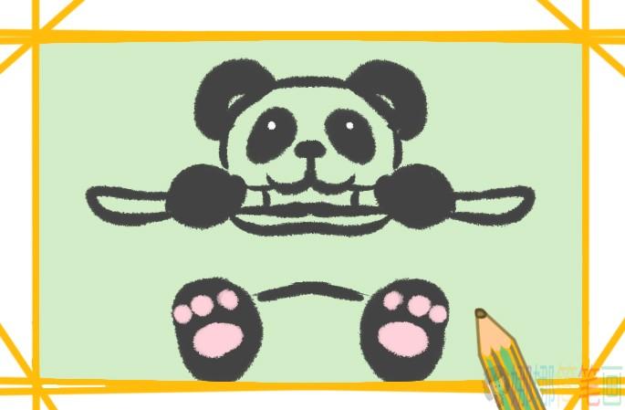 吃竹子的大熊猫简笔画
