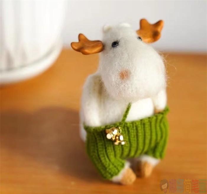 可爱的羊毛毡手工图片