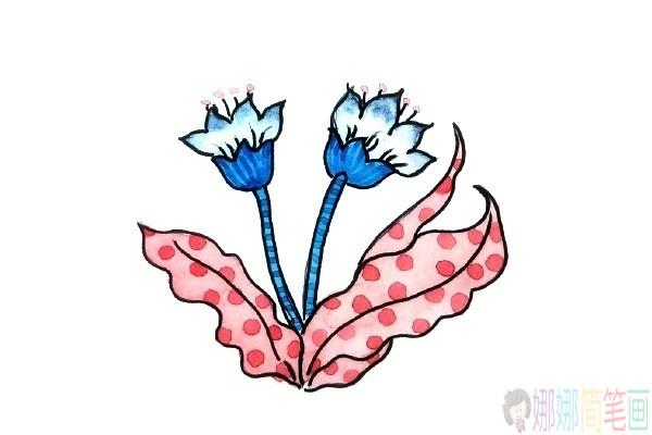 彩色花朵水粉画