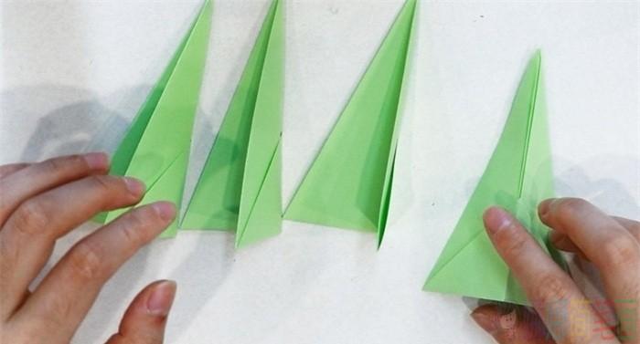杉树手工折纸图解