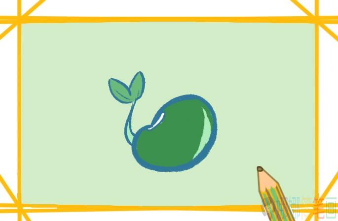 绿豆简笔画图片