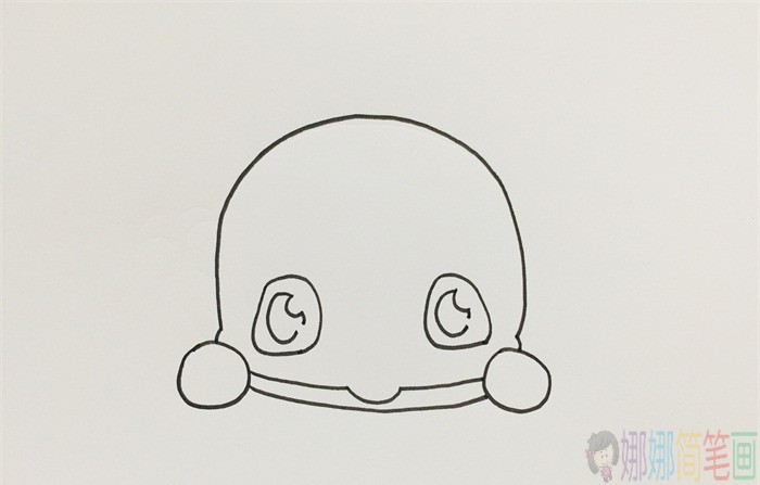 Q版蓝鲸简笔画画法