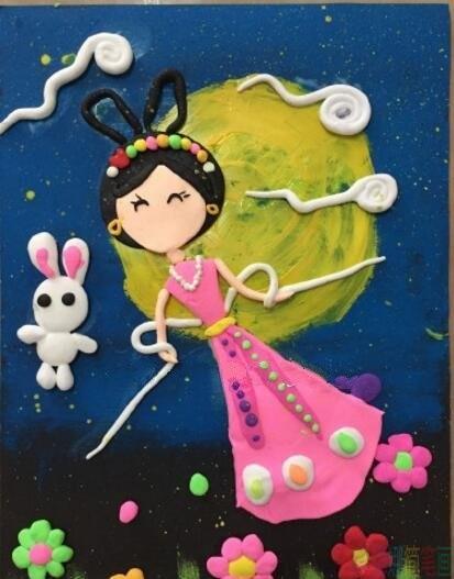 中秋节创意手工绘画作品