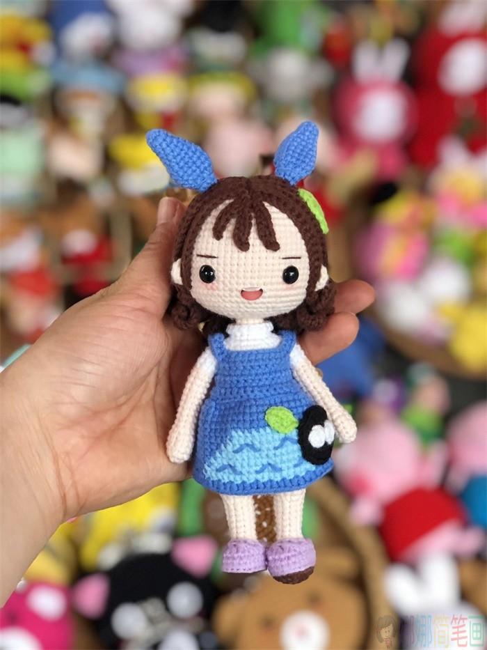 可爱的手工编织娃娃简笔画