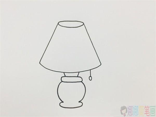 台灯简笔画,台灯怎么画