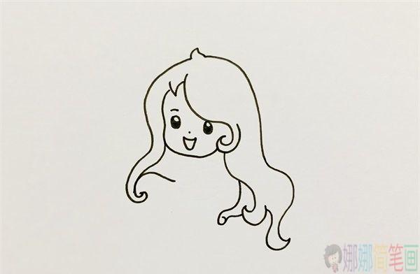 美人鱼简笔画画法教程