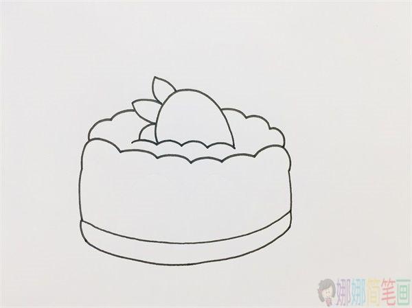 蛋糕怎么画,儿童简笔画蛋糕