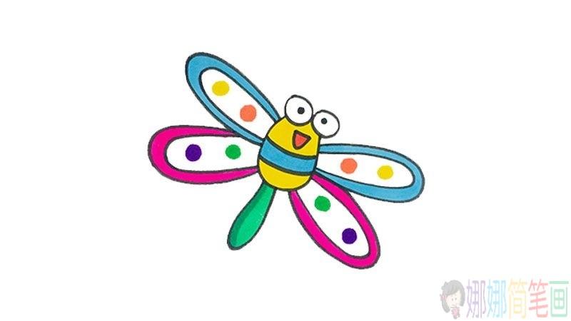 简单的蜻蜓画法,蜻蜓儿童简笔画