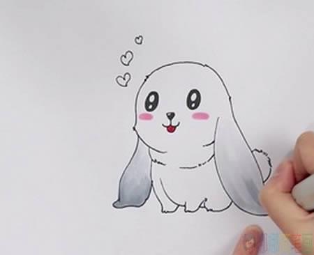 垂耳兔简笔画,小兔子儿童简笔画